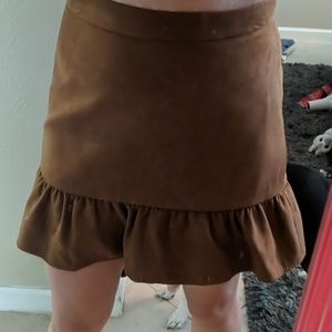 J. Crew faux suede skirt